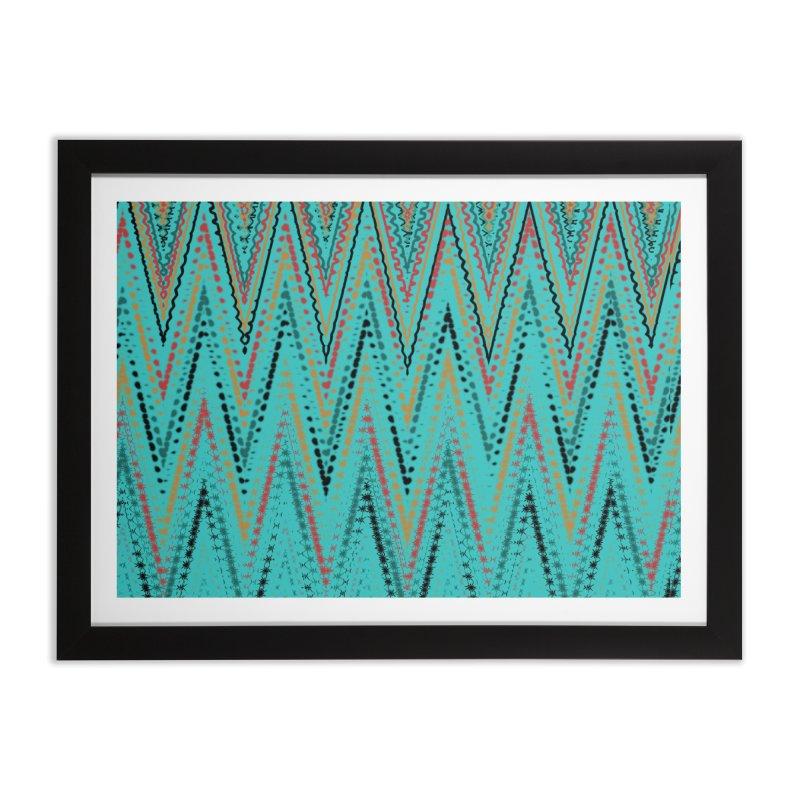 Native Wave Home Framed Fine Art Print by Christy Leigh Creative