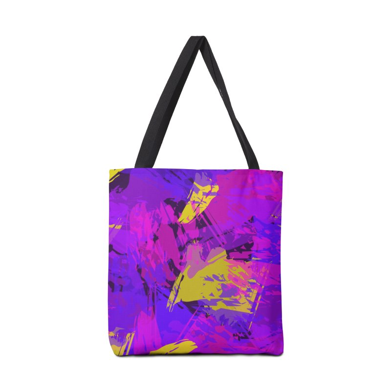 Pink Purple and Yellow Attack Accessories Bag by Christy Leigh Creative