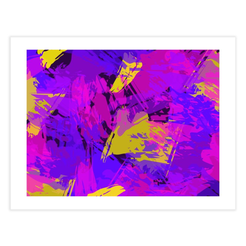 Pink Purple and Yellow Attack Home Fine Art Print by Christy Leigh Creative