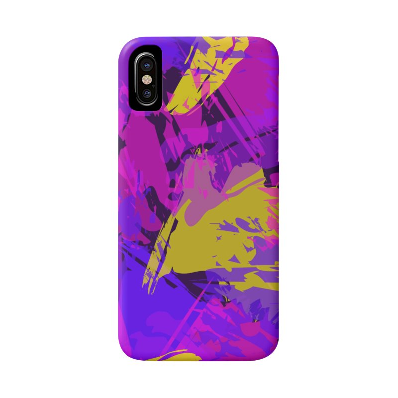 Pink Purple and Yellow Attack Accessories Phone Case by Christy Leigh Creative