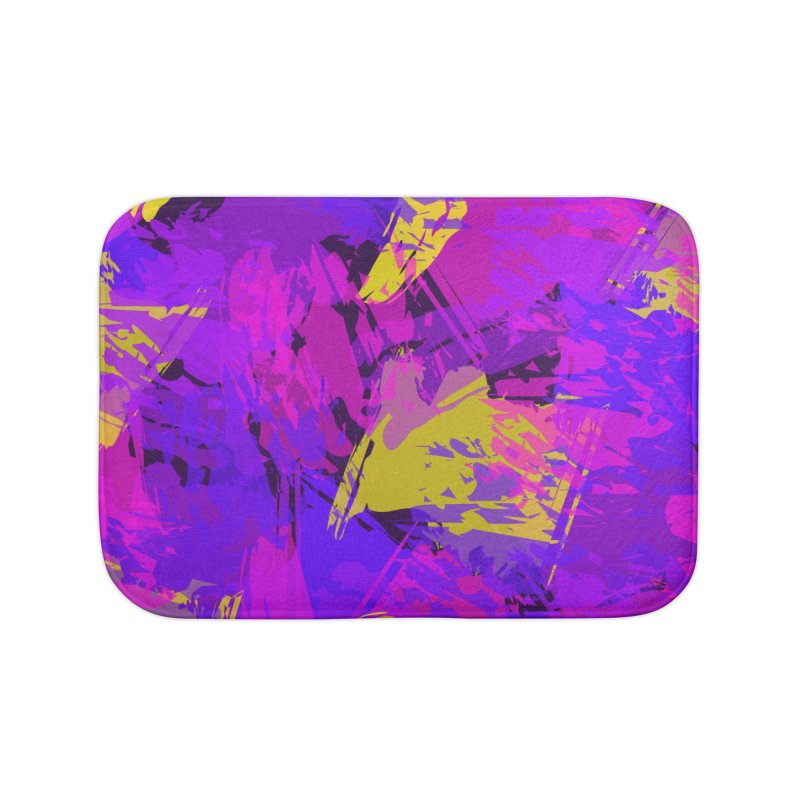 Pink Purple and Yellow Attack Home Bath Mat by Christy Leigh Creative
