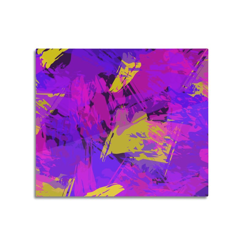 Pink Purple and Yellow Attack Home Mounted Acrylic Print by Christy Leigh Creative