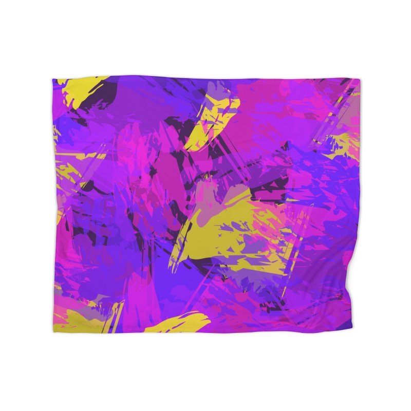 Pink Purple and Yellow Attack Home Blanket by Christy Leigh Creative