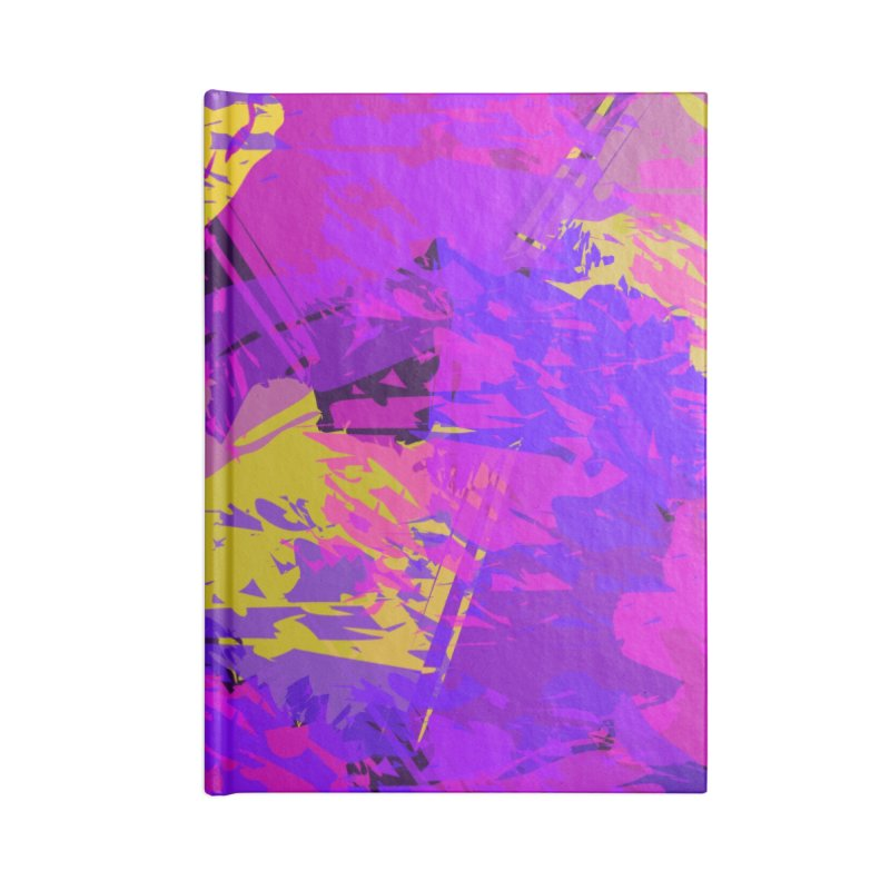 Pink Purple and Yellow Attack Accessories Notebook by Christy Leigh Creative