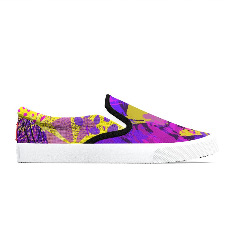 Pink Purple and Yellow Attack Men's Shoes by Christy Leigh Creative