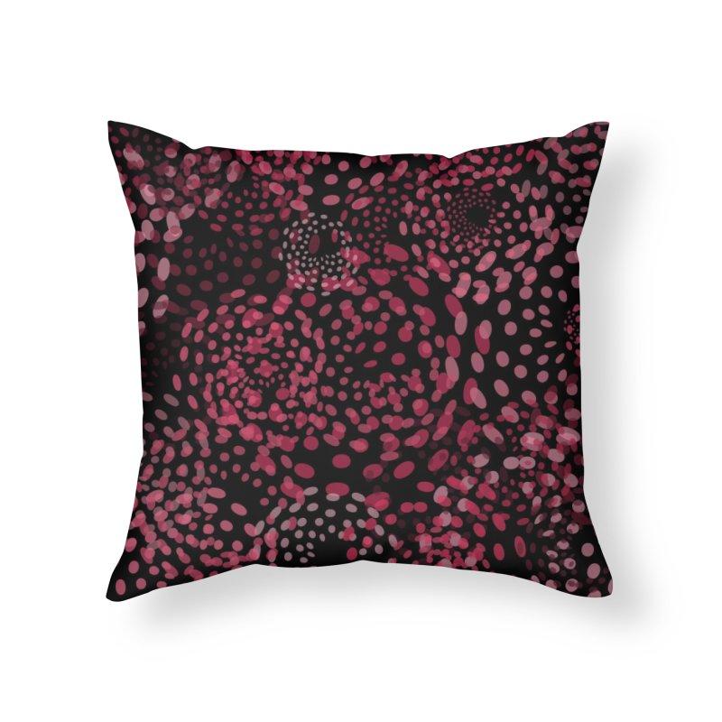 Crimson Fireworks Home Throw Pillow by Christy Leigh Creative
