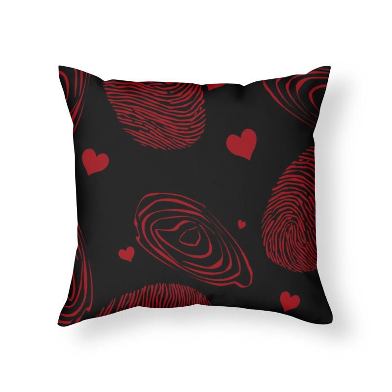 Love Prints Home Throw Pillow by Christy Leigh Creative