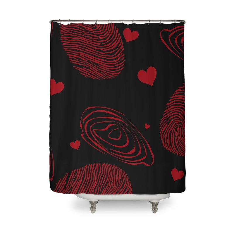 Love Prints Home Shower Curtain by Christy Leigh Creative
