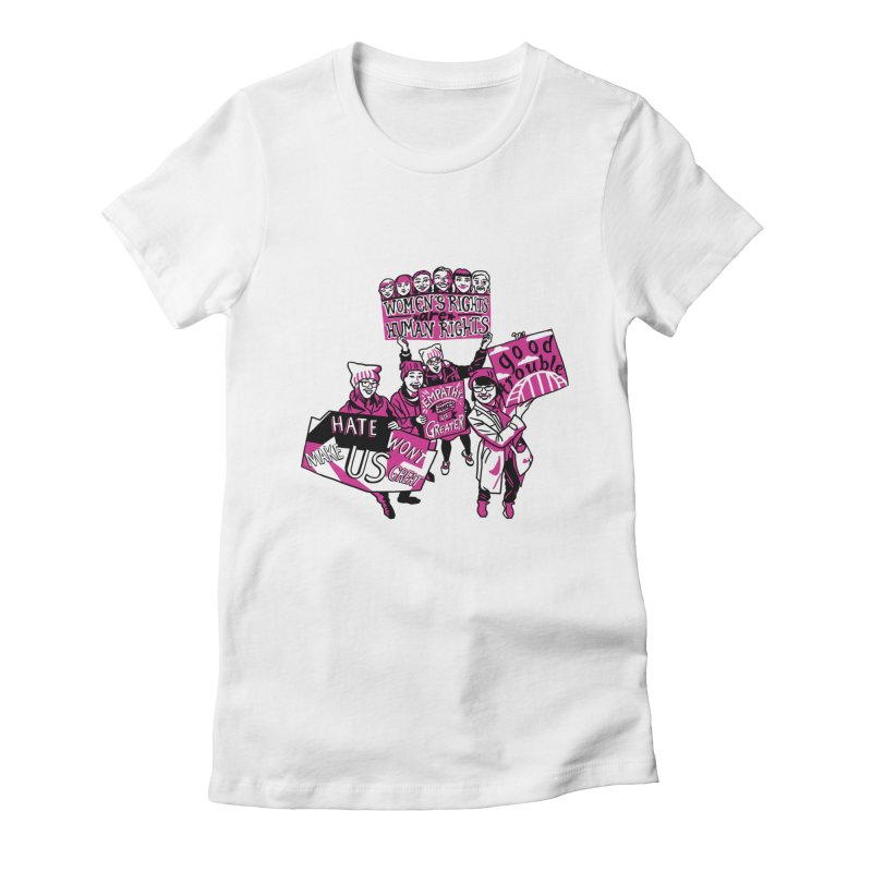 Team Kakow in aid of Womankind Women's Fitted T-Shirt by COUP tees's Artist Shop
