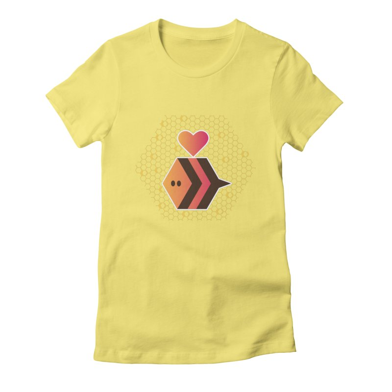 ochre7 in aid of The Bee Cause Women's Fitted T-Shirt by COUP tees's Artist Shop