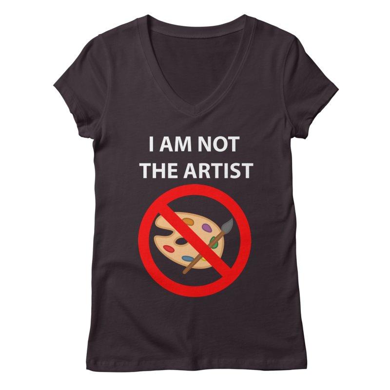 Gallery Sitter Shirt Women's Regular V-Neck by Congratulations Pine Tees
