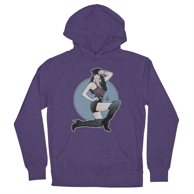 Biker Girl 90's Women's French Terry Pullover Hoody by CRcarlosrodriguez's Artist Shop