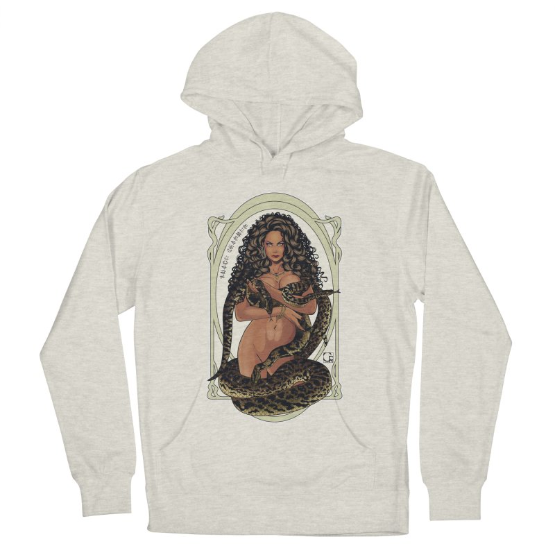 Snake Charmer Women's French Terry Pullover Hoody by CRcarlosrodriguez's Artist Shop