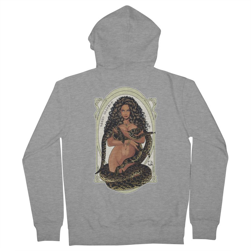Snake Charmer Women's French Terry Zip-Up Hoody by CRcarlosrodriguez's Artist Shop