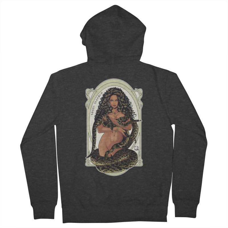 Snake Charmer Men's French Terry Zip-Up Hoody by CRcarlosrodriguez's Artist Shop