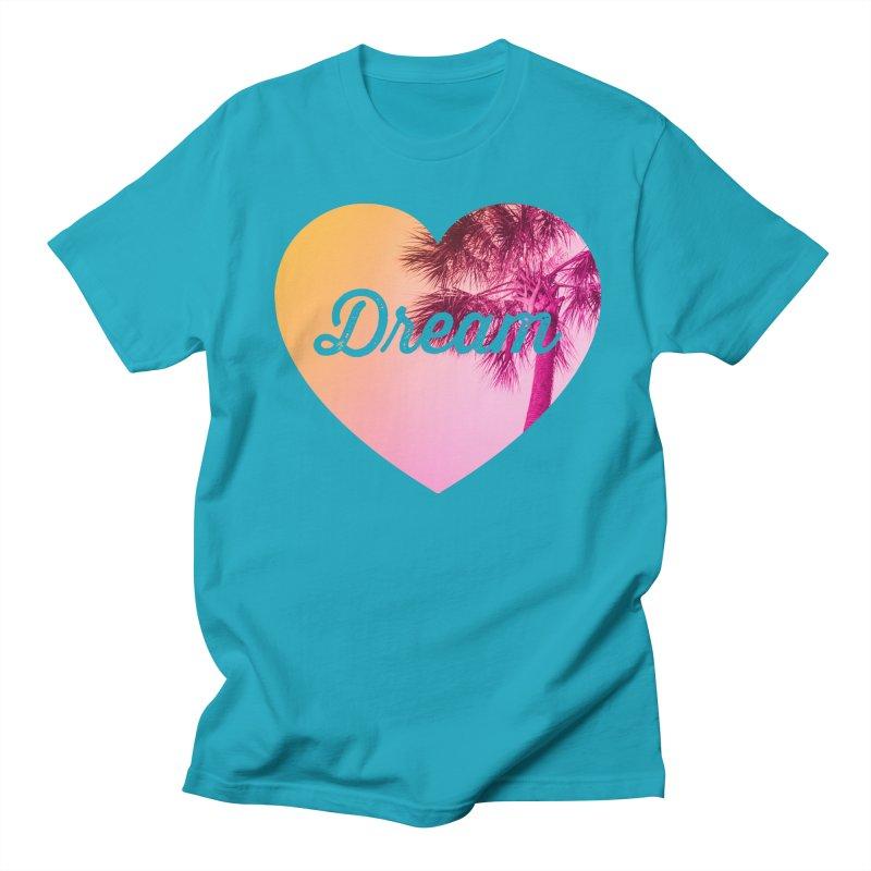 Tropical Dreams in Men's Regular T-Shirt Cyan by CSchrack's Artist Shop