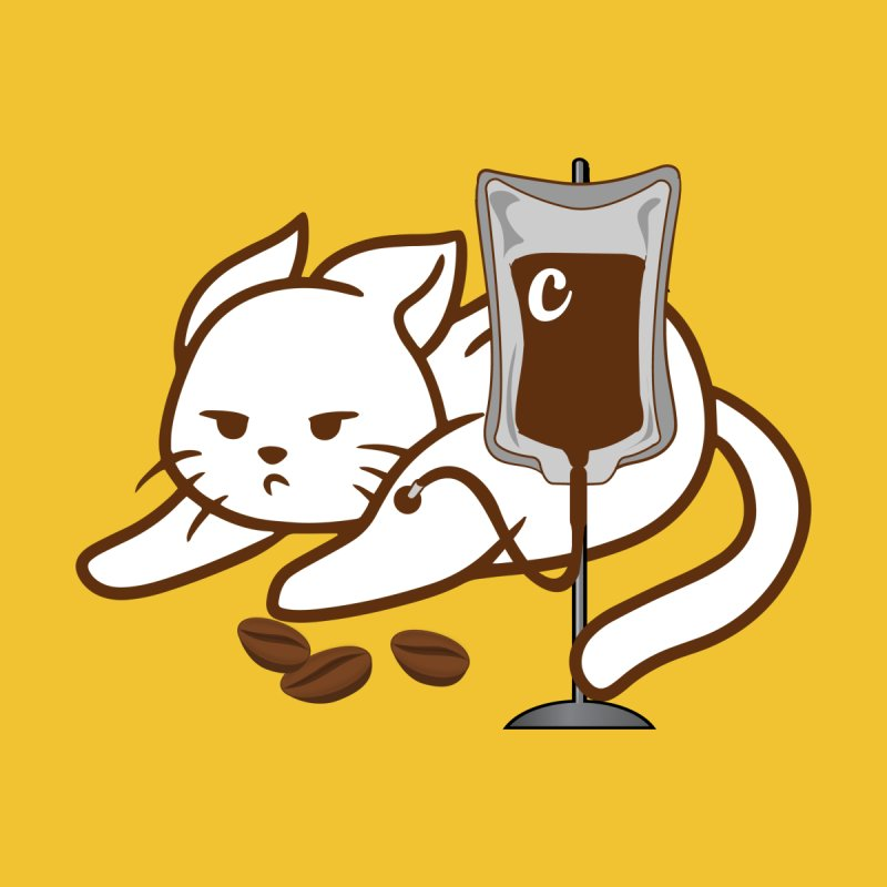 Your Coffee Is Ready - Cat and Coffee Addicted IV intravenous Home Rug by CWartDesign's Artist Shop