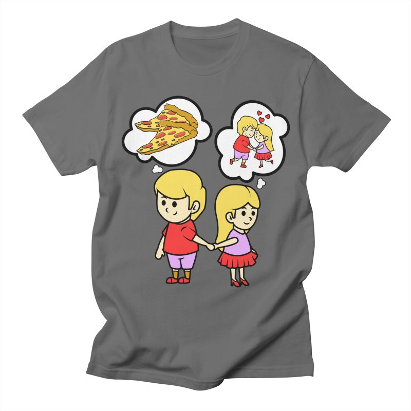 Eating Pizza For Two Couples Funny Gift Idea - Pizza Lover Men's T-Shirt by CWartDesign's Artist Shop