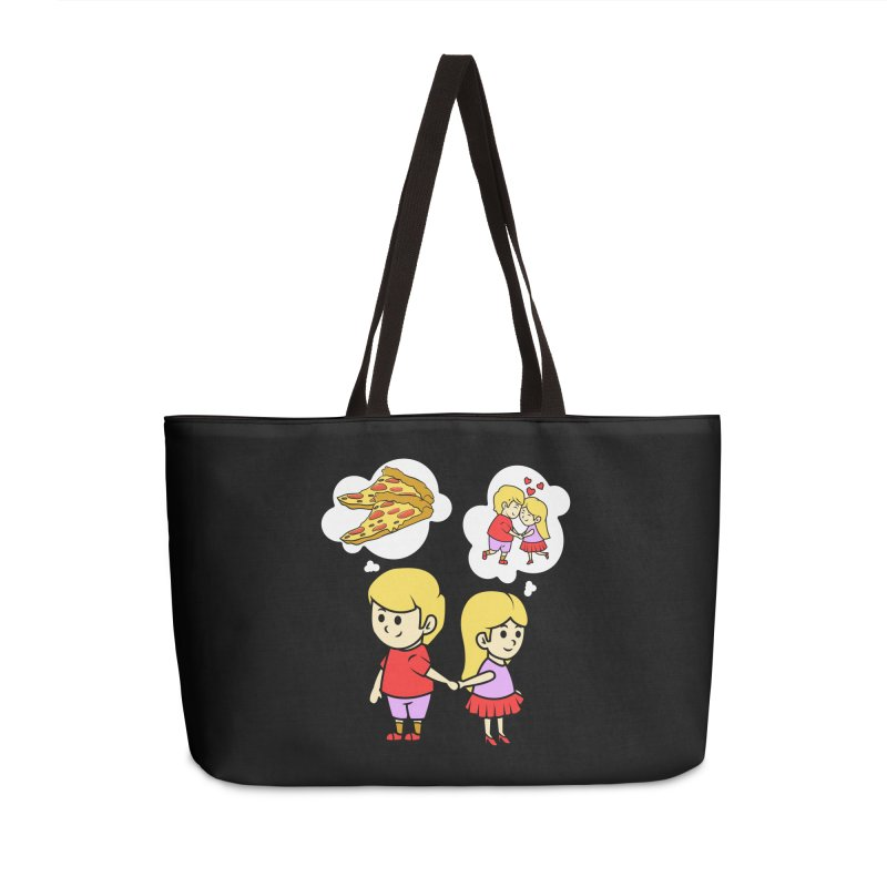 Eating Pizza For Two Couples Funny Gift Idea - Pizza Lover Accessories Bag by CWartDesign's Artist Shop