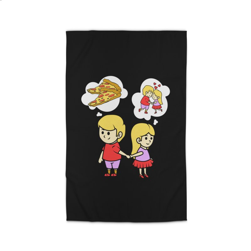 Eating Pizza For Two Couples Funny Gift Idea - Pizza Lover Home Rug by CWartDesign's Artist Shop