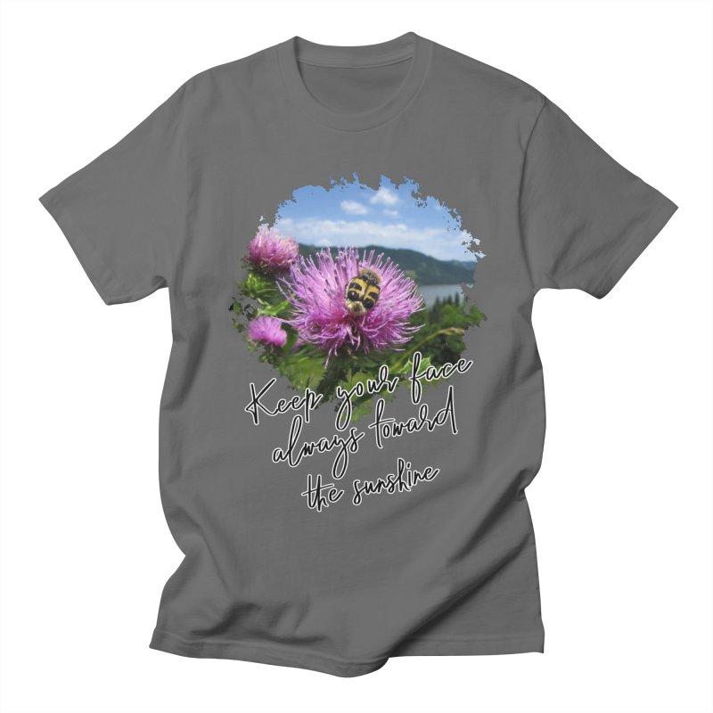 Keep Your Face Always Toward The Sunshine - Impactful Positive Motivational Men's T-Shirt by CWartDesign's Artist Shop