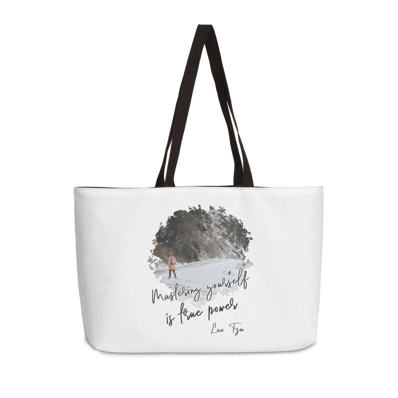 Mastering yourself is true power - Impactful Positive Motivational Accessories Bag by CWartDesign's Artist Shop
