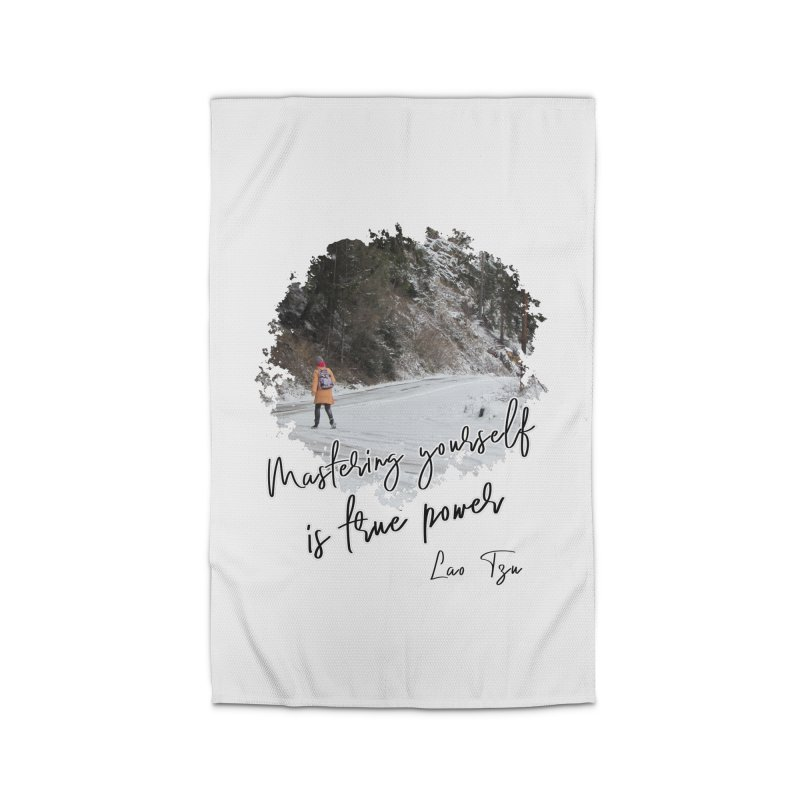 Mastering yourself is true power - Impactful Positive Motivational Home Rug by CWartDesign's Artist Shop