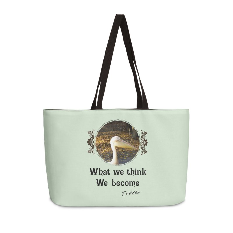 What We Think We Become - Impactful Positive Motivational Accessories Bag by CWartDesign's Artist Shop