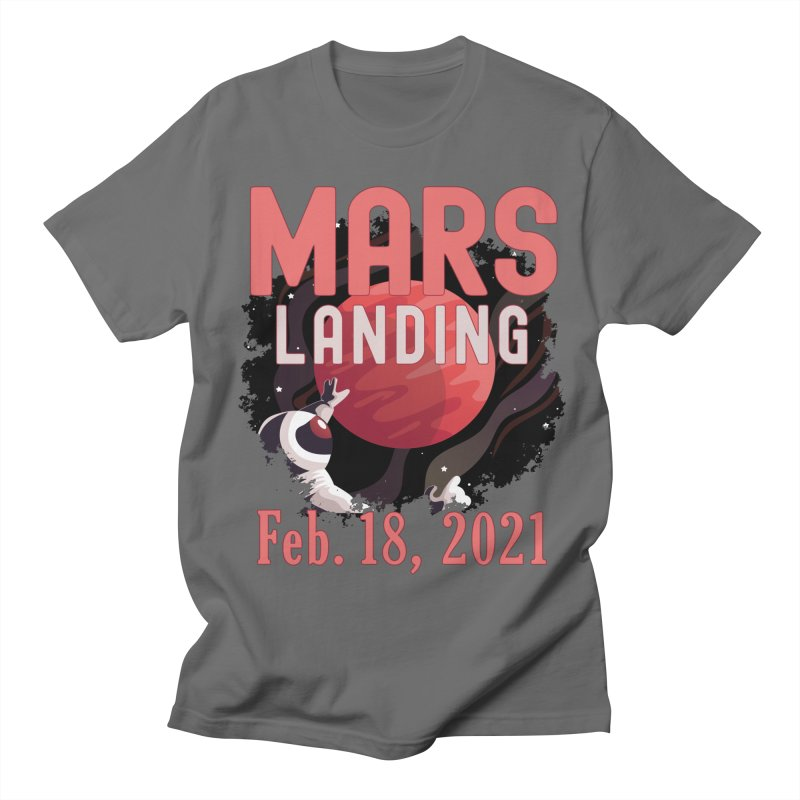 Mars Landing Day Space Exploration Mission Perseverance Men's T-Shirt by CWartDesign's Artist Shop