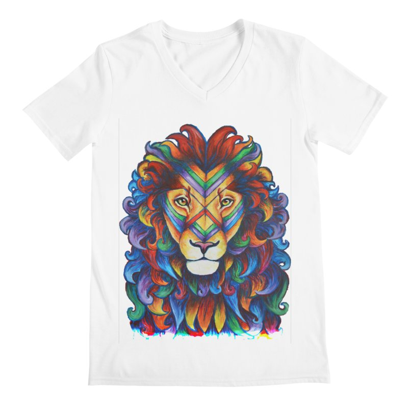 Mufasa in Technicolour Men's V-Neck by CYLF's Artist Shop