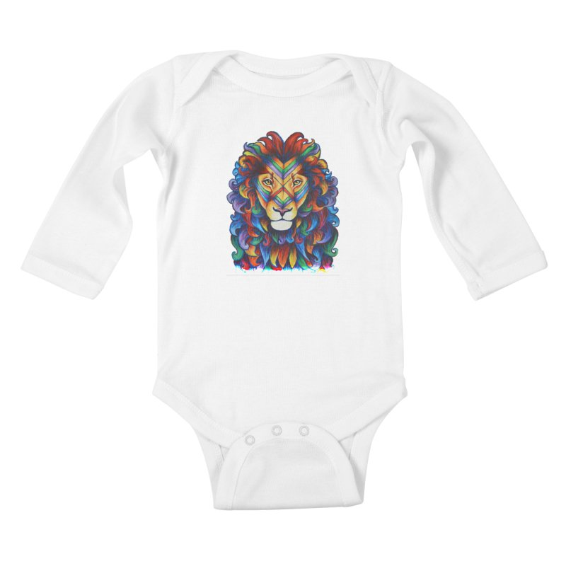 Mufasa in Technicolour Kids Baby Longsleeve Bodysuit by CYLF's Artist Shop