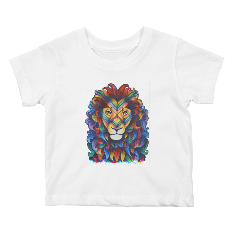 Mufasa in Technicolour Kids Baby T-Shirt by CYLF's Artist Shop