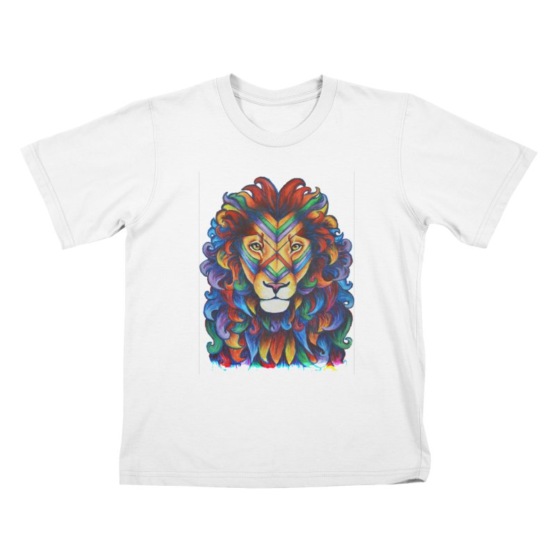 Mufasa in Technicolour Kids T-Shirt by CYLF's Artist Shop