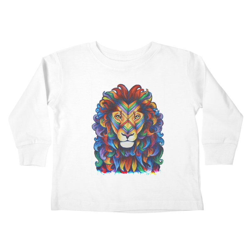 Mufasa in Technicolour Kids Toddler Longsleeve T-Shirt by CYLF's Artist Shop