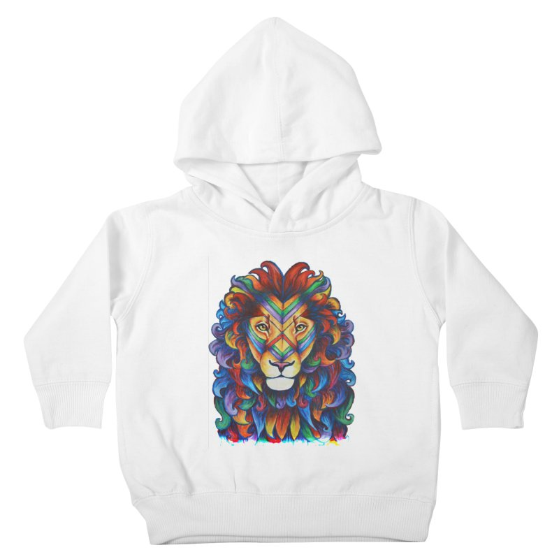 Mufasa in Technicolour Kids Toddler Pullover Hoody by CYLF's Artist Shop