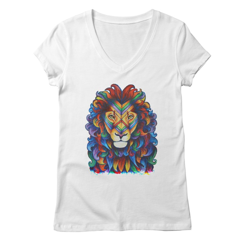 Mufasa in Technicolour Women's V-Neck by CYLF's Artist Shop