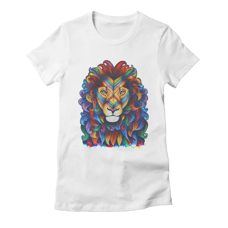 Mufasa in Technicolour Women's Fitted T-Shirt by CYLF's Artist Shop