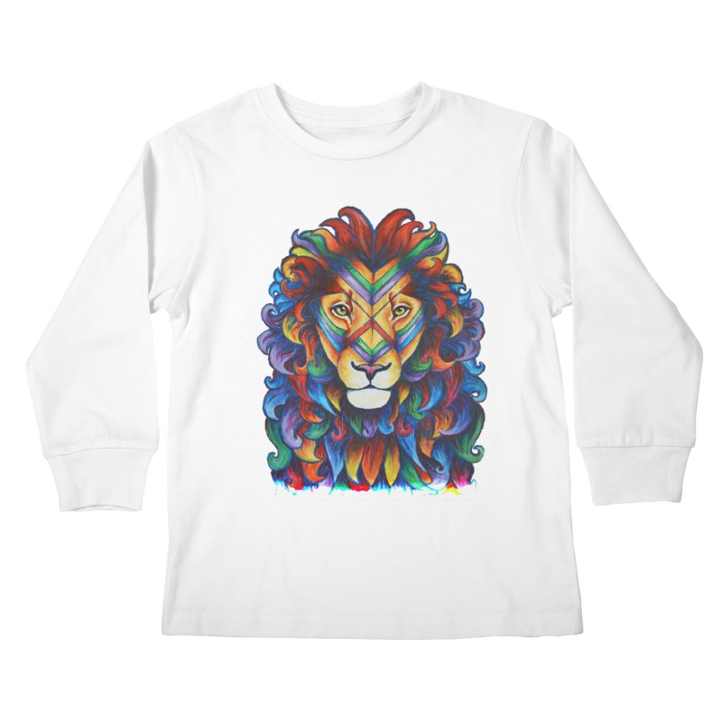 Mufasa in Technicolour Kids Longsleeve T-Shirt by CYLF's Artist Shop