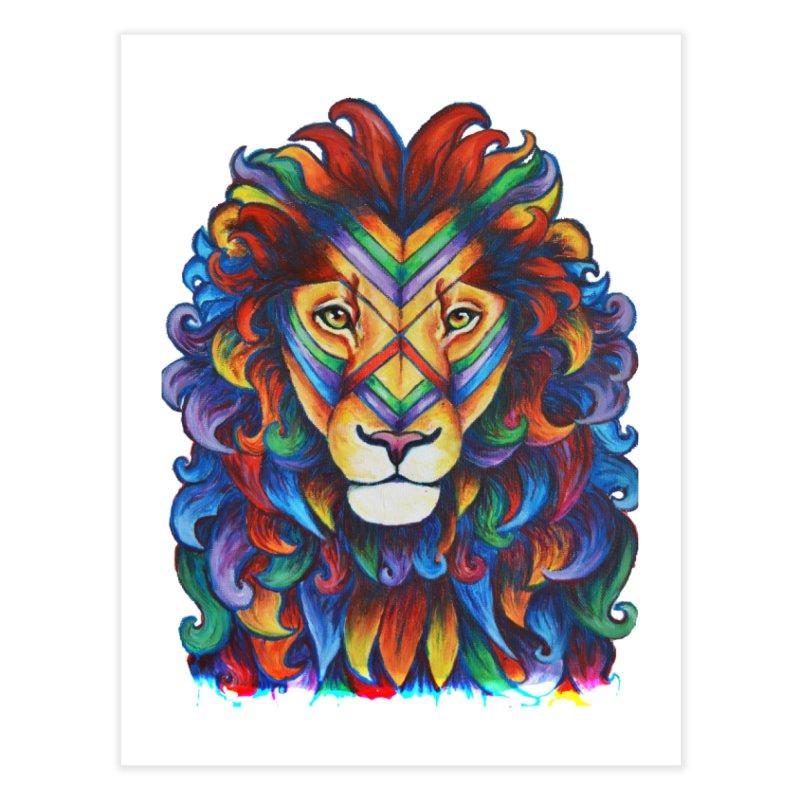Mufasa in Technicolour Home Fine Art Print by CYLF's Artist Shop