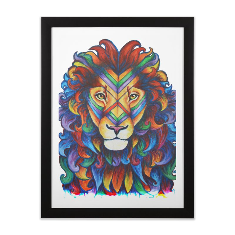 Mufasa in Technicolour Home Framed Fine Art Print by CYLF's Artist Shop