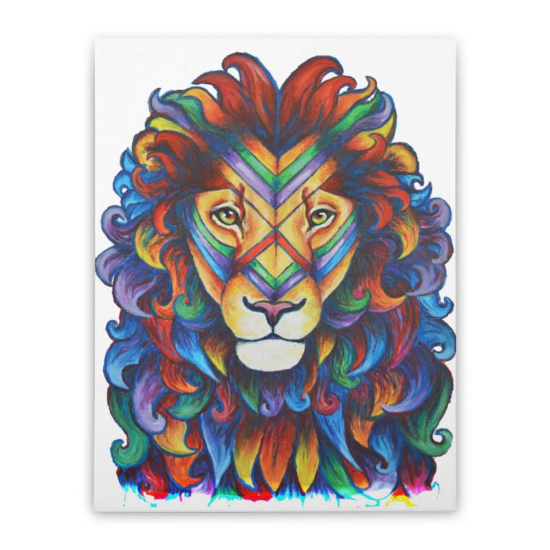 Mufasa in Technicolour Home Stretched Canvas by CYLF's Artist Shop