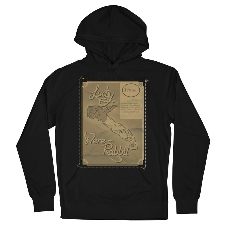 Lucky Were-Rabbits foot ad Men's Pullover Hoody by Calahorra Artist Shop
