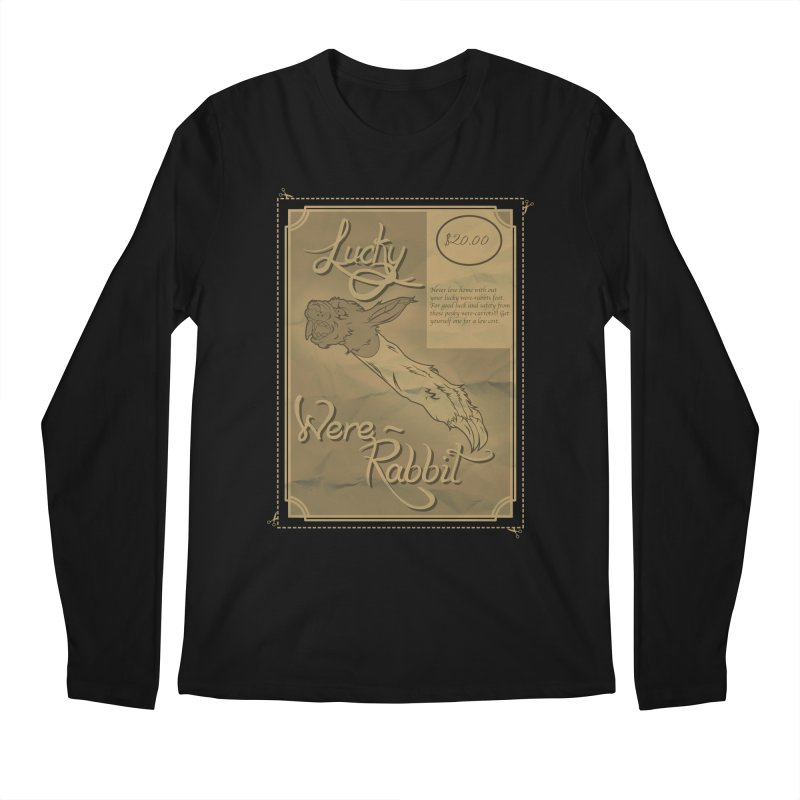 Lucky Were-Rabbits foot ad Men's Longsleeve T-Shirt by Calahorra Artist Shop