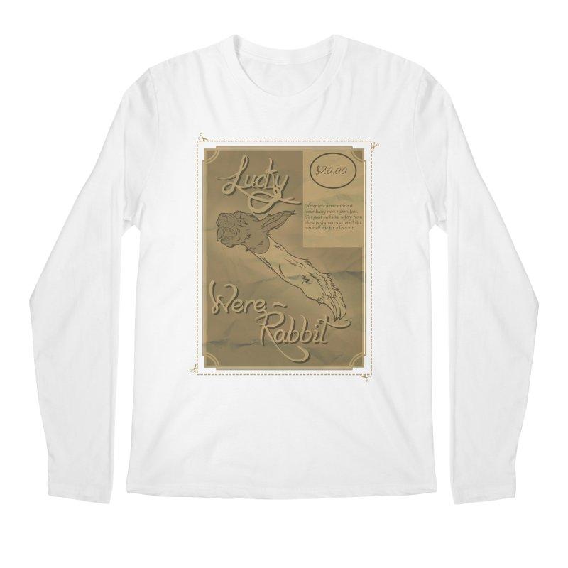 Lucky Were-Rabbits foot ad Men's Longsleeve T-Shirt by Calahorra Artist Shop