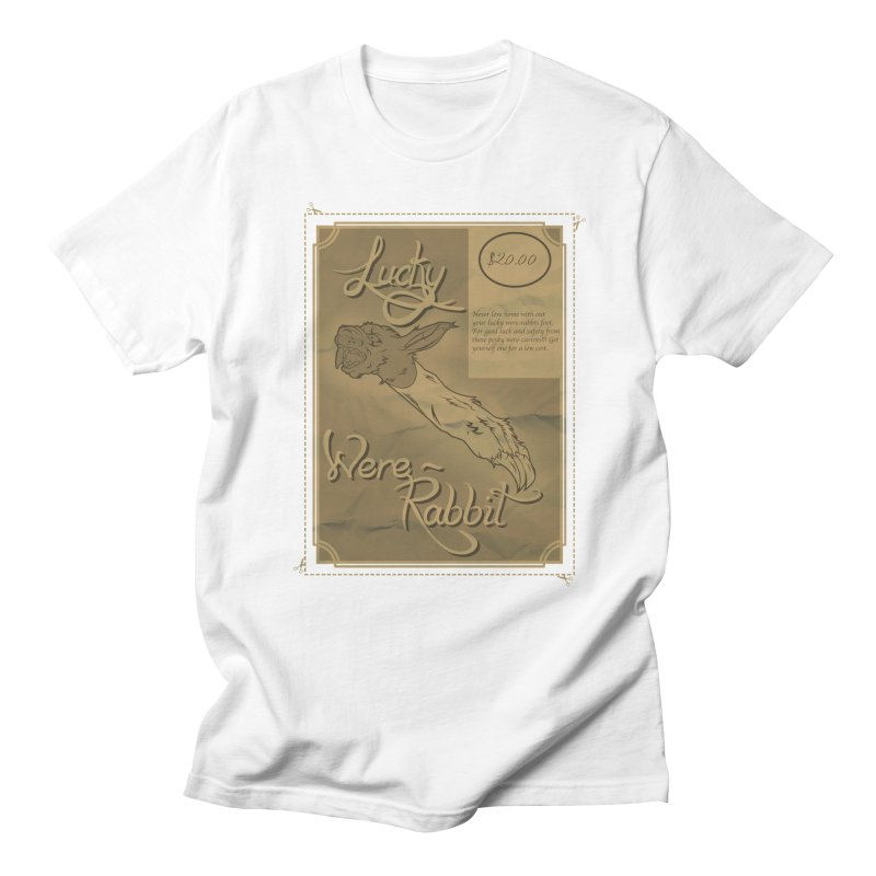 Lucky Were-Rabbits foot ad Men's T-shirt by Calahorra Artist Shop