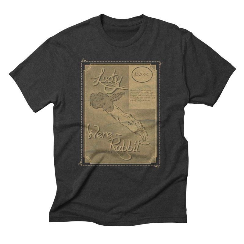 Lucky Were-Rabbits foot ad Men's Triblend T-Shirt by Calahorra Artist Shop