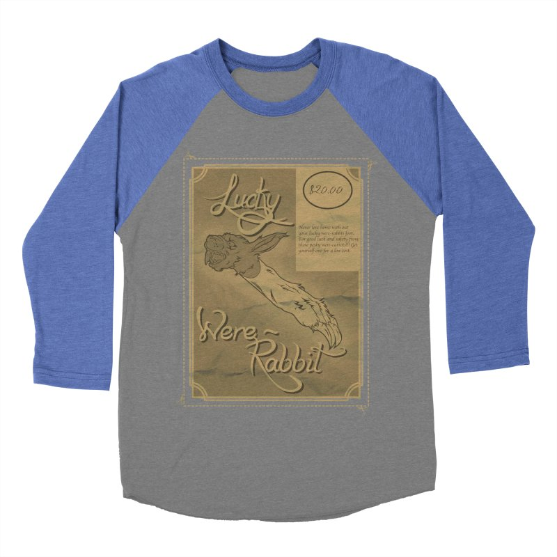 Lucky Were-Rabbits foot ad Women's Baseball Triblend T-Shirt by Calahorra Artist Shop