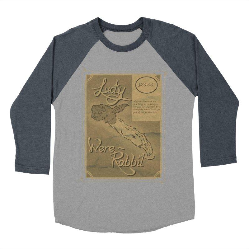 Lucky Were-Rabbits foot ad Men's Baseball Triblend T-Shirt by Calahorra Artist Shop