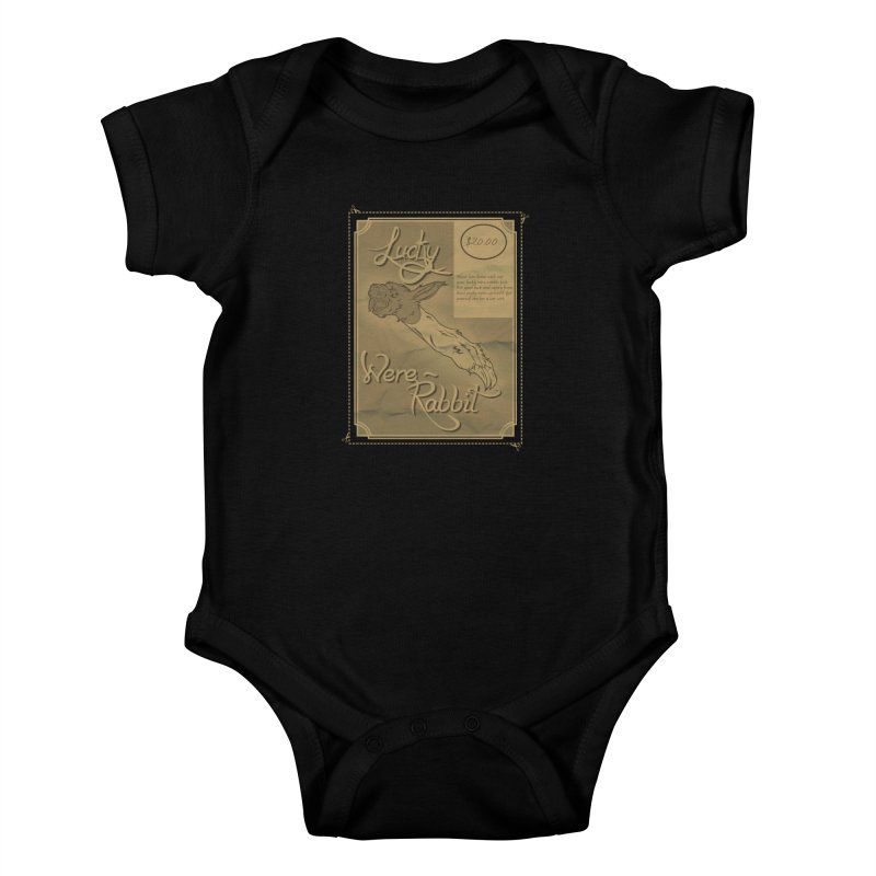 Lucky Were-Rabbits foot ad Kids Baby Bodysuit by Calahorra Artist Shop
