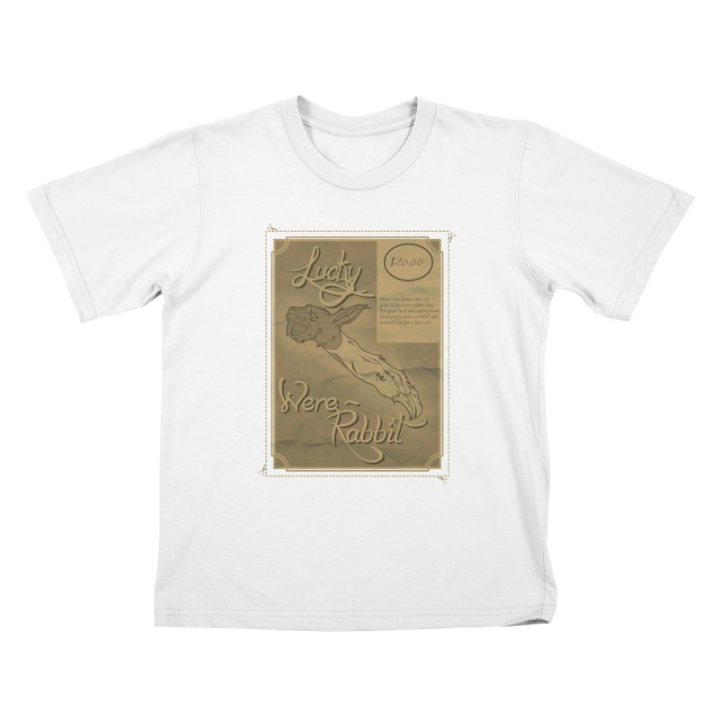 Lucky Were-Rabbits foot ad Kids T-shirt by Calahorra Artist Shop